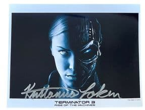 Genuine Kristanna Loken 10 X 8 Signed Autograph Photo Terminator 3 Rise Machines